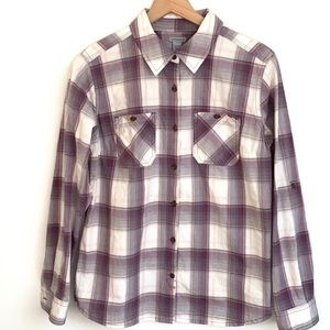 Carhartt Long sleeve plaid button down Top, size M